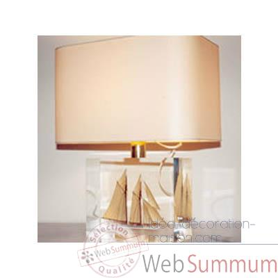 Moyenne Lampe Rectangle Goelette beige Abat-jour Rectangle Beige-131