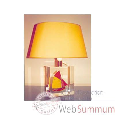 d coration maison petite lampe ovale thonier d 218 rouge jaune abat jour ovale 94. Black Bedroom Furniture Sets. Home Design Ideas