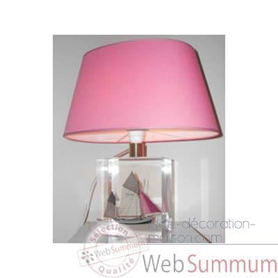 petite lampe ovale thonier gris rose abat jour ovale. Black Bedroom Furniture Sets. Home Design Ideas