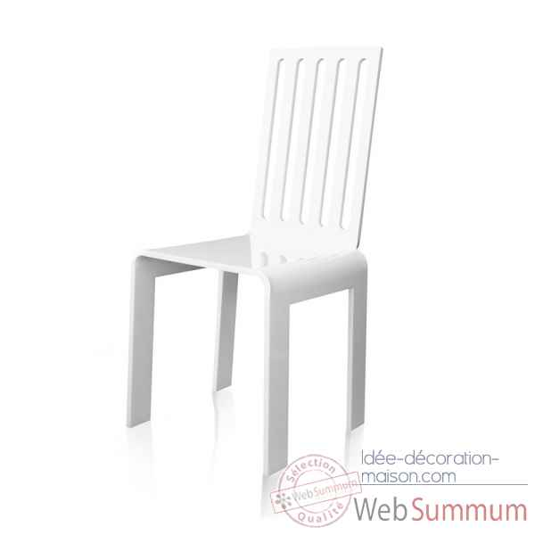 Chaise barreaux blanche grand soir acrila -cbbgs