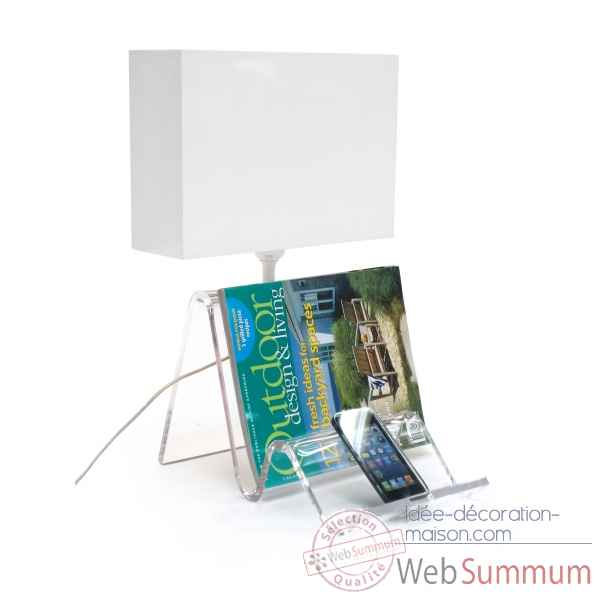 Lampe phone et tablette transparent Acrila -lampe phone transparente