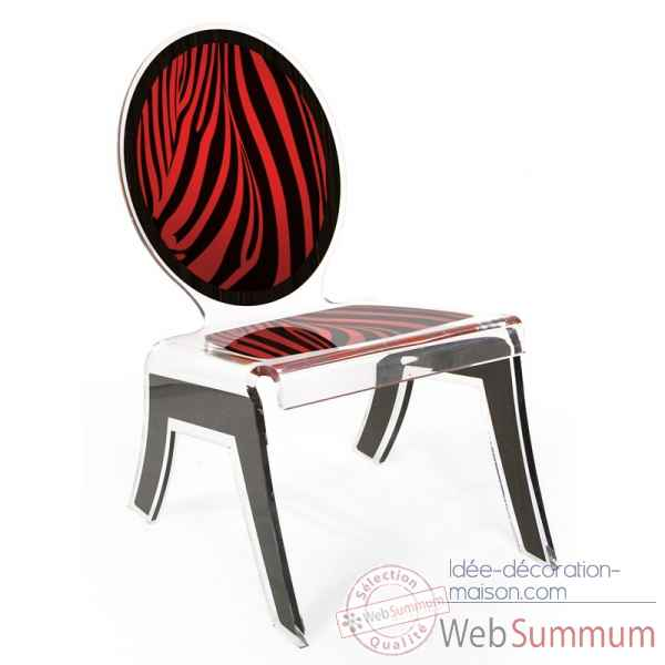 Relax chair wild zebre rouge acrila -rcwzr