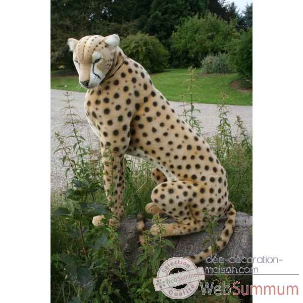 Peluche Automate guepard assis 110cmh/75cml (5339) Anima -0150