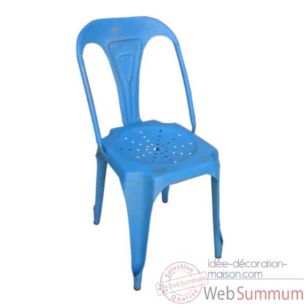 Chaise bleue Antic Line -CD487