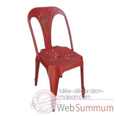 Chaise rouge Antic Line -CD486