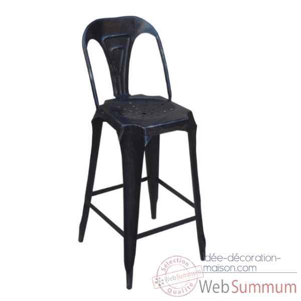 Fauteuil de bar avec dossier noir us antic line dans - Antic line meubles ...
