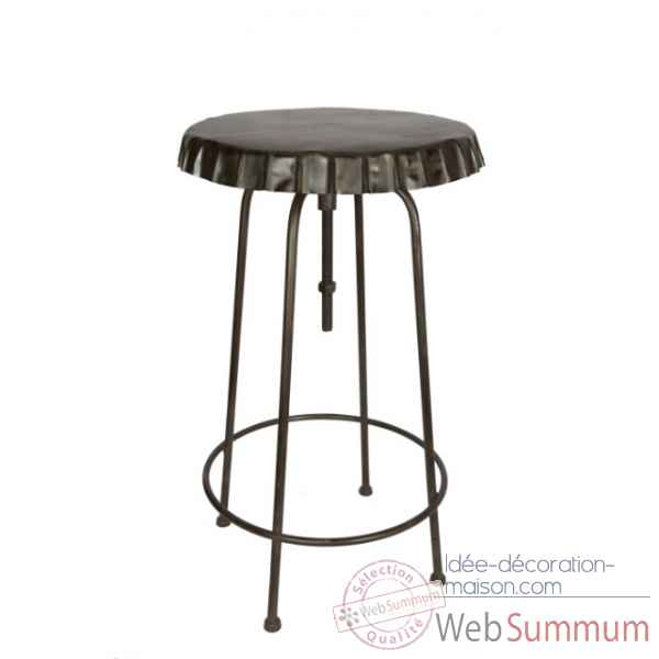 Table haute plateau capsule antique Antic Line -SEB12334
