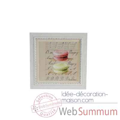 Tableau macarons 38 x 38 cms Antic Line -DEC9453