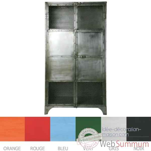 Armoire Metal rouge Hindigo -JC69RED