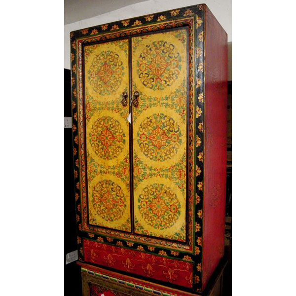 Armoire 2 portes et tibetain style chine c0876 dans for Meuble chine design
