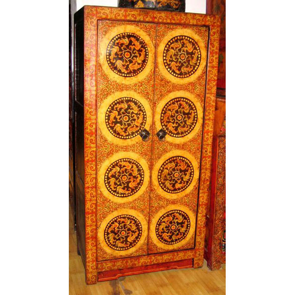 Armoire 2 portes tibetain style chine c0893 dans armoires for Meuble chine design
