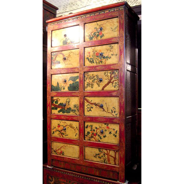 Video Armoire 10 tiroirs tibetain style Chine -C0613