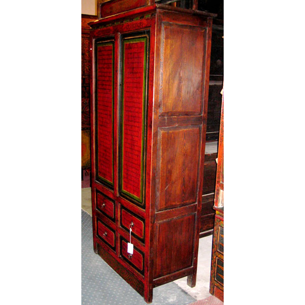 Armoire 2 portes et 4 tiroirs tibet style chine c0322 for Meuble chine design
