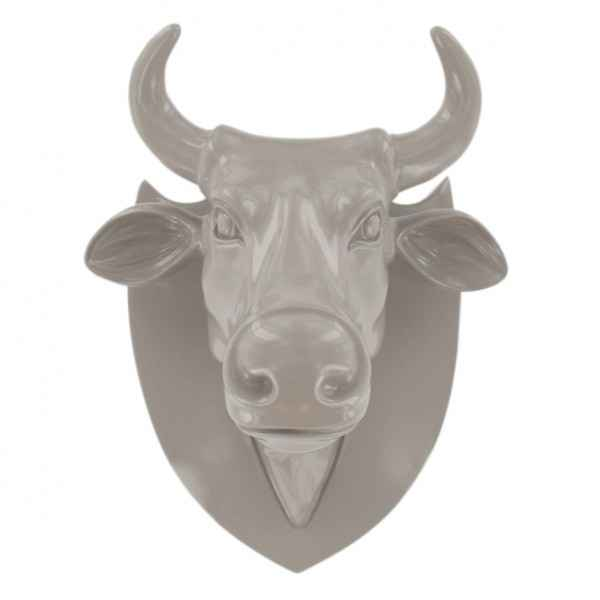 Vache tete cool gris Art in the City -80988