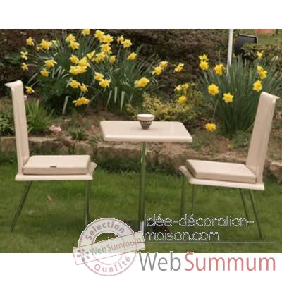 Table de bistrot blanche Art Mely - AM25