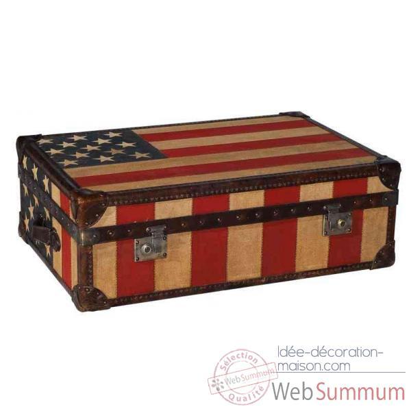 Malle watson en tissu avec drapeau am ricain h 300 x 890 for Malle decoration maison