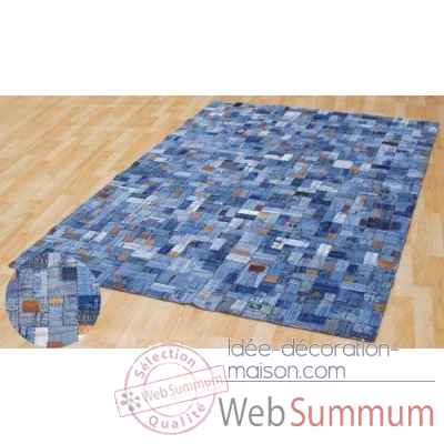 Tapis patchwork jeans arteinmotion -com-tap0169