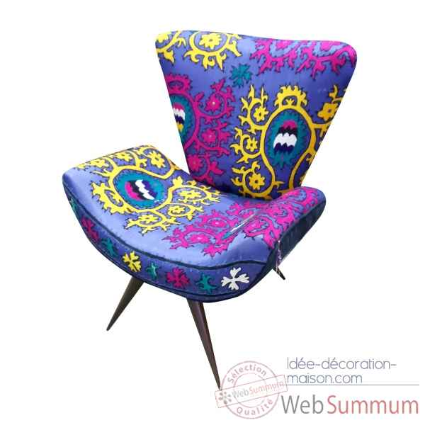 Fauteuil frida patch suzani szalay -Szalay03