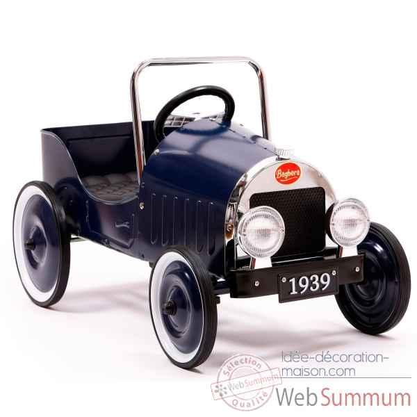 Baghera voiture p dales en m tal bleue 82 x 43 cm for Decoration maison voiture