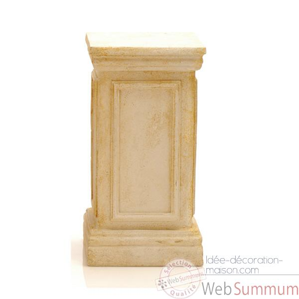 Piedestal et Colonne-Modele York Podest, surface granite combines avec du fer-bs1001gry/iro
