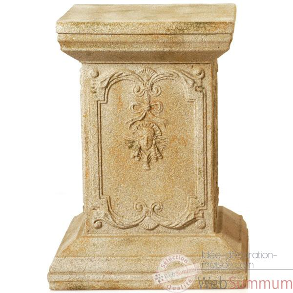 Piedestal et Colonne-Modele Queen Anne Podest, surface pierre romaine-bs1002ros