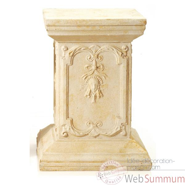 Piedestal et Colonne-Modele Queen Anne Podest, surface rouille-bs1002rst