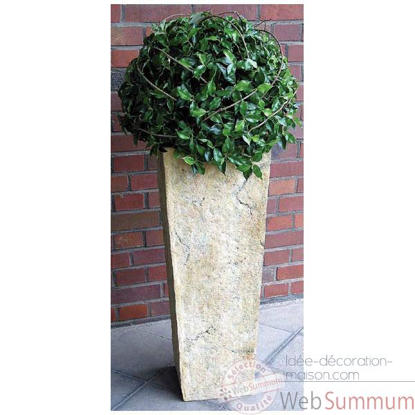 Vases-Modele Quarry Pedestal Planter, surface rouille-bs2133rst