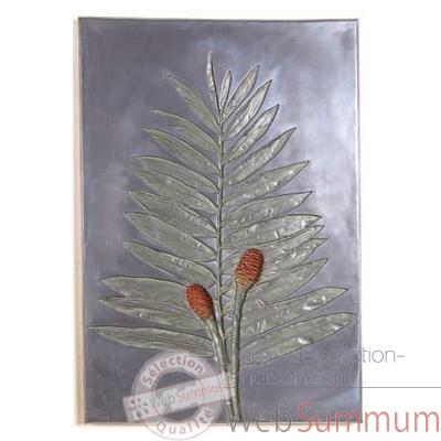 Decoration murale-Modele Torch Ginger Negative Wall Plaque, surface aluminium-bs2309alu