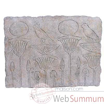 Decoration murale-Modele Papyrus Wall Plaque, surface granite-bs2311gry