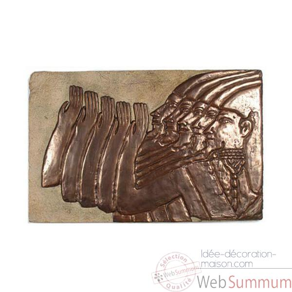 Decoration murale-Modele Mesopotamia, surface gres avec bronze-bs2312sa/nb