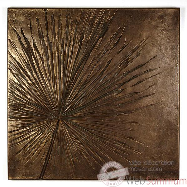 Decoration murale-Modele  Anahaw Wall Plaque Medium Negative, surface bronze nouveau-bs2324nb