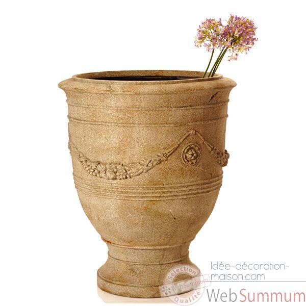 Vases-Modele Anduz Pot,  surface granite-bs3056gry