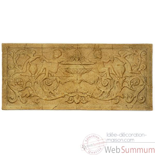Decoration murale-Modele Cherub Wall Decor, surface marbre vieilli-bs3086ww