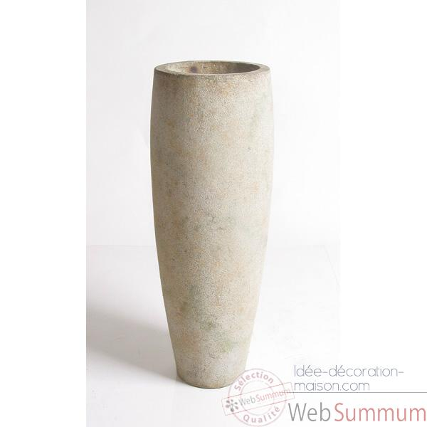 Vases-Modele Mati Planter, surface pierre romaine-bs3114ros