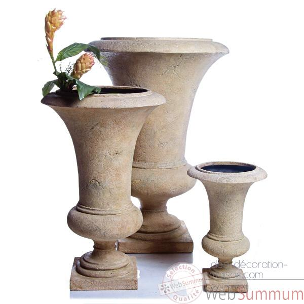 Vases-Modele Empire Urn    medium, surface pierre romaine-bs3116ros
