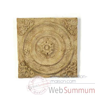 Decoration murale-Modele Rondelle Wall Plaque, surface gres-bs3166sa