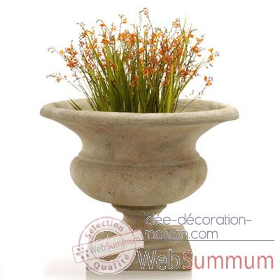 Vases-Modele Orbe Urn,  surface granite-bs3167gry