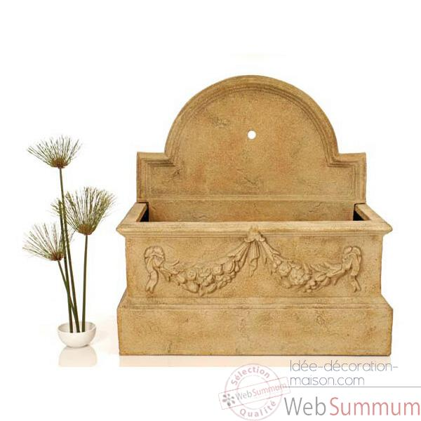 Fontaine-Modele Rialto Trough Fountain w/o Spout, surface granite-bs3169gry
