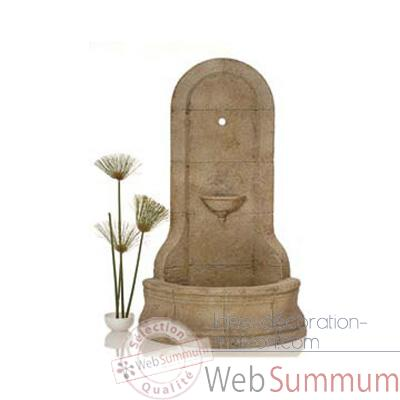 Fontaine-Modele Cordova Wall Fountain, surface granite-bs3185gry