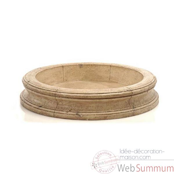 Fontaine-Modele Pisa Fountain Basin, surface granite-bs3191gry