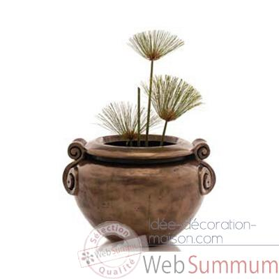 Vases-Modele Vigan Planter Junior, surface bronze avec vert-de-gris-bs3213vb