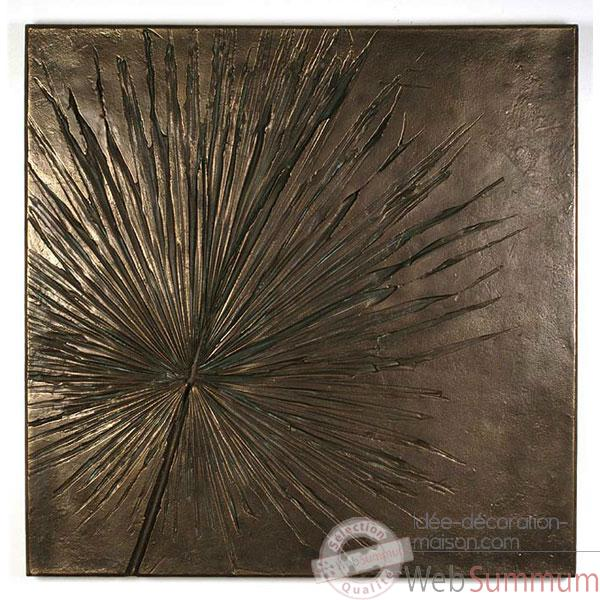 Decoration murale-Modele Anahaw Wall Plaque, surface bronze nouveau-bs3235nb