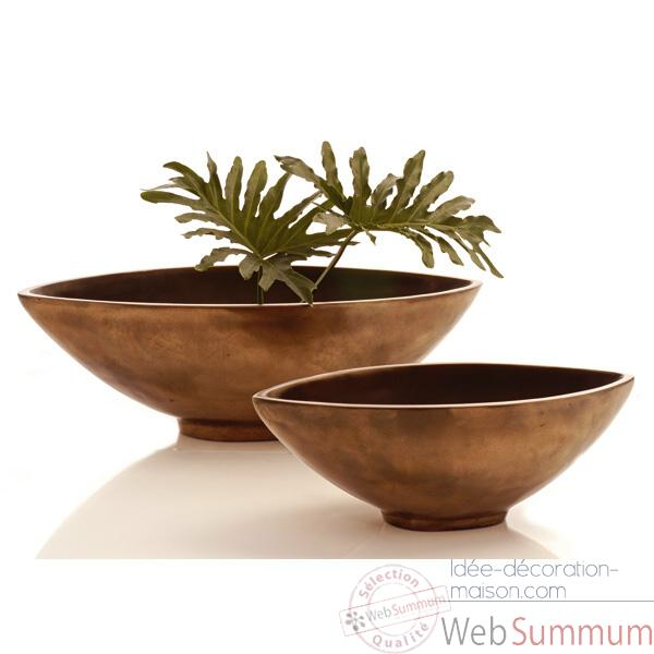Vases-Modèle Mata Bowl Small, surface aluminium-bs3265alu