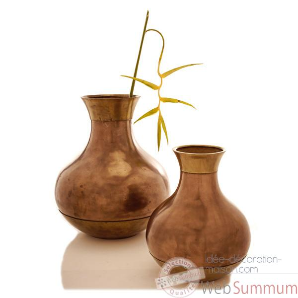 Vases-Modele Perla Jar Junior, surface bronze nouveau-bs3276nb