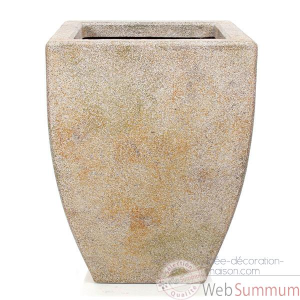 Vases-Modele Kobe Planter,  surface granite-bs3326gry
