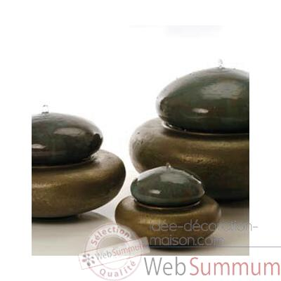 Fontaine-Modele Heian Fountain small, surface aluminium avec bronze-bs3364alu/vb