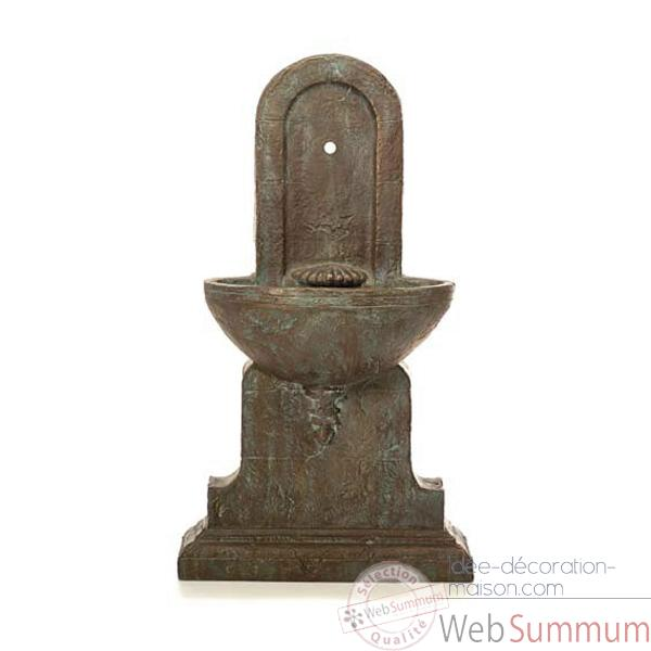 Fontaine-Modele Helene Fountain, surface pierre romaine avec bronze-bs3386ros/vb