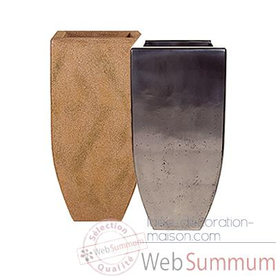 Vases-Modele Kobe Planter Large, surface aluminium-bs3434alu