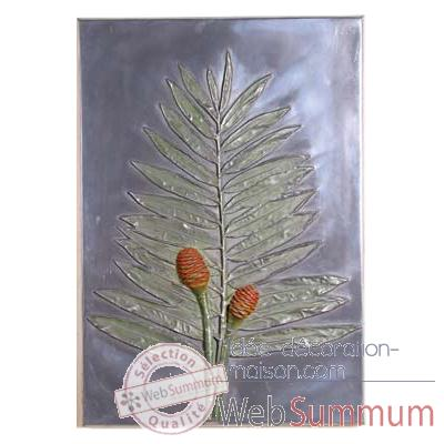 Décoration murale Torch Ginger Positive Wall Plaque, aluminium -bs2308alu