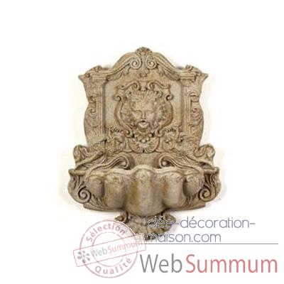 Fontaine Wind God Wall Fountain, marbre vieilli combinés or -bs2197wwg